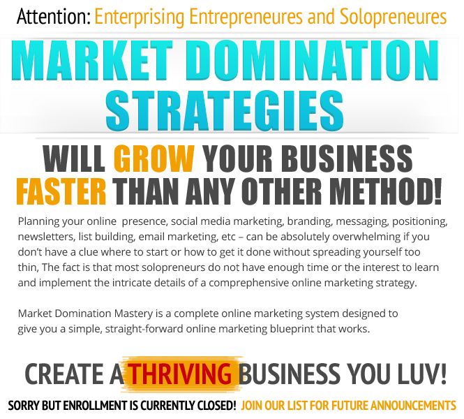 Market domination mastery homepagesalesletter malvernweather Images